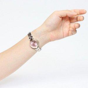 Forever(フォーエバー)  腕時計 デイト付き FL-1201-2 ピンク×シルバー