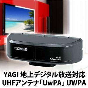 YAGI(八木アンテナ) 地上デジタル放送対応 ツインパネル型 UHFアンテナ UwPA(ウーパ) ブラック UWPA-B