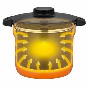 真空保温調理器/両手調理鍋 【4〜6人用 オレンジ】 4.3L 200V電磁調理器対応 ふっ素コーティング加工 『THERMOS サーモス』
