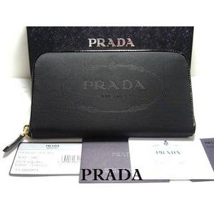 PRADA(プラダ) 1M0506 NYLON JACQUARD NERO 長財布