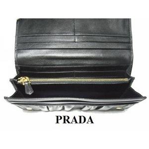 PRADA(プラダ) 1M1132 NAPPA GAUFRE NERO 長財布