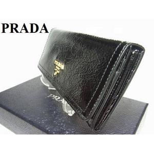 PRADA(プラダ) 1M1132 NERO VERNICE エナメル 長財布