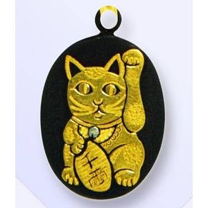 熊本伝統工芸 肥後象嵌 光助 携帯ストラップ(招き猫)
