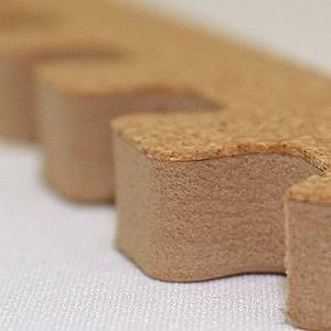 やさしいコルクマット 約6畳分サイドパーツ ラージサイズ(45cm×45cm) 〔大判 ジョイントマット クッションマット 赤ちゃんマット〕