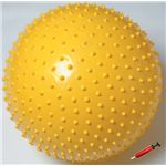 ソフタッチ エクササイズボール「いがぐりくん」 SO-IGK65 イエロー 65