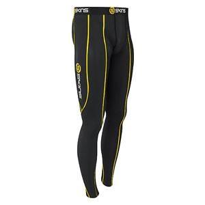 SKINS(スキンズ) SPORT スポーツロングタイツ ブラック ブラック/イエロー b10001001 Lサイズ