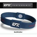 EFX(イーエフエックス) パフォーマンス リストバンド スポーツブレスレット ブルー×ホワイト×レッド[正規品]4001567b-240 Lサイズ