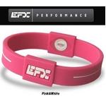 EFX(イーエフエックス) パフォーマンス リストバンド スポーツブレスレット ピンク×ホワイト[正規品]4001567b-293 Mサイズ