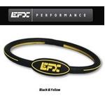 EFX(イーエフエックス) パフォーマンス リストバンド オーバルブレスレット ブラック×イエロー[正規品]4001568-236 Mサイズ