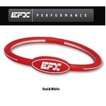 EFX(イーエフエックス) パフォーマンス リストバンド オーバルブレスレット レッド×ホワイト[正規品]4001568-214 Lサイズ