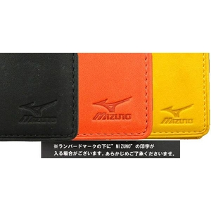 名刺入れ MIZUNO(ミズノ) グラブの革で作った本格人気アイテム! 2zg91009 ブラック(09)