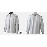 ★2009年商品★ MIZUNO(ミズノ) VictoryStage ウォームアップシャツ Lサイズ ネイビー×ホワイト(14)
