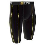 噂の着るサプリメント!! 【SKINS(スキンズ)】 『 スポーツハーフタイツ black/yellow』 XL