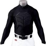 RAWLINGS(ローリングス)危険な打球から命を守る!!『胸部保護パッドアンダーシャツ(長袖)』 S ネイビー