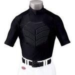 RAWLINGS(ローリングス)危険な打球から命を守る!!『胸部保護パッドアンダーシャツ(半袖)』 2XO ネイビー