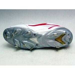 ZETT(ゼット) 『プロステイタスCR』 樹脂底埋め込みスパイク ホワイト×レッド(1164) 28.0cm
