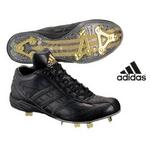adidas(アディダス) 立ちベロ ミドルカットモデル 樹脂底スパイク メタル フラッグシップ ブラック×ブラック 26cm
