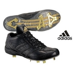 adidas(アディダス) 立ちベロ ミドルカットモデル 樹脂底スパイク メタル フラッグシップ ブラック×ブラック 28cm