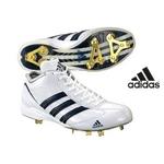 adidas(アディダス) 樹脂底スパイク アディスタート メタル MID ミドルカット ホワイト×ネイビーライン 26cm