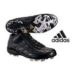 adidas(アディダス) 立ちベロミドルカットモデル ポイントスパイク アディスタート MID ブラック 26cm