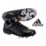 adidas(アディダス) 立ちベロローカットモデル ポイントスパイク アディスタート LOW ブラック 26cm