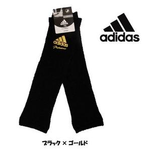 adidas(アディダス) 契約選手着用モデル レッグウォーマー ブラック×ゴールド JI294 ブラック×ゴールド(p68047) 【3セット】