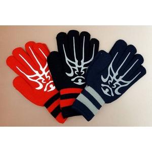 ★☆Rawlings(ローリングス) ☆★ ☆WAJIKARA ワジカラ☆ 防寒用ニット手袋『両手用』 ブラック(90) F(フリー) 【4セット】