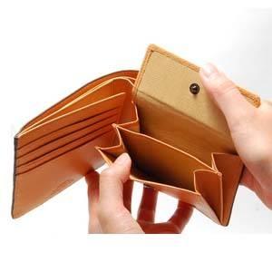 LORETO(ロレート) コードバンシリーズ 二つ折り財布(コインポケット付き) ブラック
