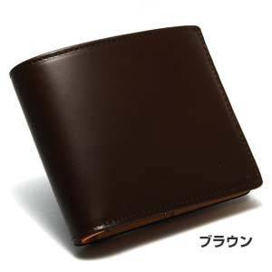 LORETO(ロレート) コードバンシリーズ 二つ折り財布(コインポケット無し) ブラウン