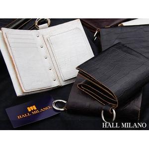HALL MILANO(ハルミラノ) リングシリーズ 2つ折り財布(ワイド) ダークブラウン