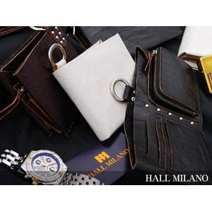HALL MILANO(ハルミラノ) リングシリーズ 2つ折り財布(スタンダード) ダークブラウン