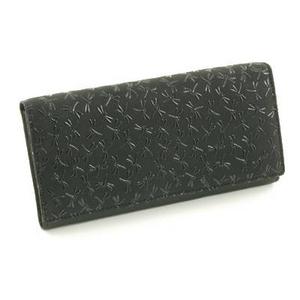 印伝(印傳) 長財布 ブラック