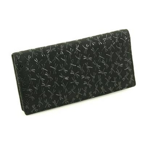印伝(印傳) 長財布(薄型) ブラック