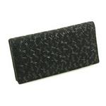 印伝(印傳) 長財布(薄型) ブラックの詳細ページへ