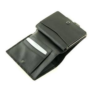 印伝(印傳) 二つ折り財布(がま口タイプ) ベージュ