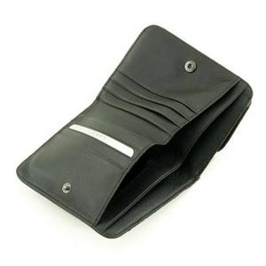 印伝(印傳) 二つ折り財布(ボックスタイプ) ブラック