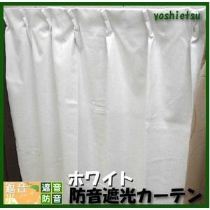 防音カーテン ホワイト 幅100cm×丈105cm 2枚組