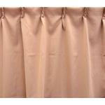 防炎1級遮光カーテン ベージュ 幅150cm×丈200cm 2枚組