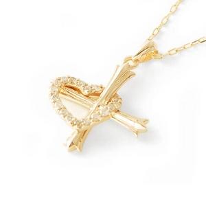 Beji(ベジ) hearts diamond/ネックレス イエローゴールド【網戸もえさん着用】