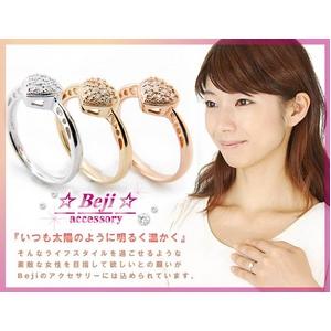 Beji(ベジ) 〜elegant style series〜 heartパヴェ/リング 7号 tj200909002be  K10ホワイトゴールド