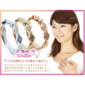 Beji(ベジ) 〜elegant style series〜 rhombus/リング 7号 tj200909004be  K10ホワイトゴールド
