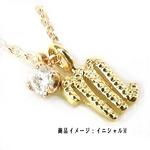 Beji(ベジ) K10ゴールドイニシャルR (天然ダイヤ付き)/ネックレス TJ200910005BE イエローゴールド