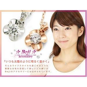 Beji(ベジ) flowers/18金ダイヤネックレス ピンクゴールドTJ200909007BE