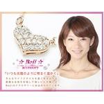 Beji(ベジ) heartパヴェ/ネックレス/Natural Pink×White Stone【czダイヤ】【矢部美佳さん着用】