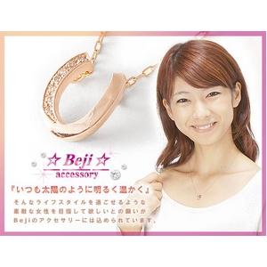 Beji(ベジ) horseshoe/ネックレス【ピンクゴールド・馬蹄】【矢部美佳さん着用】