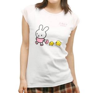 Beji(ベジ) うさぎとぴよ/リブカップ スリーブTシャツ