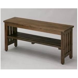 木製ベンチ エントランスベンチ(大) ブラウン