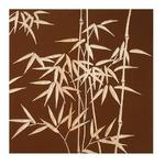 ウッド スカルプチャー アート Sサイズ/バンブーB/ブラウン