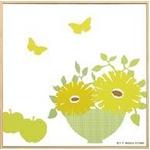モダン キャンバスアート Y.P.デザイン スタジオ フラワーポットコレクション(イエロー,3)