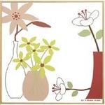 モダン キャンバスアート Y.P.デザイン スタジオ フラワーポットコレクション(ピンク,4)